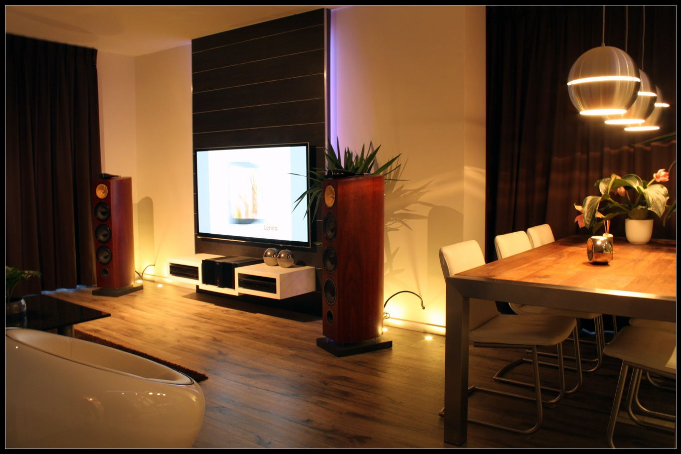 tv wand zwevend av meubel. Black Bedroom Furniture Sets. Home Design Ideas