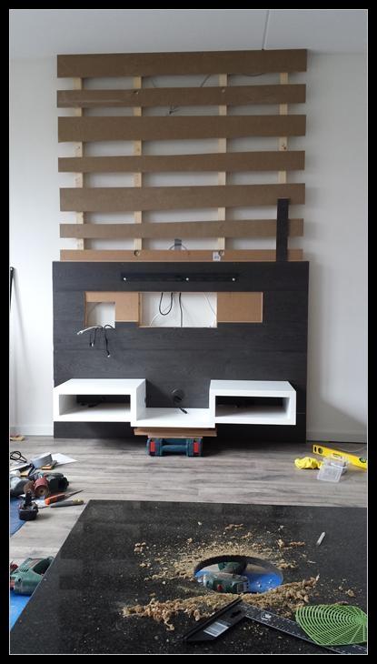 Atmoz 39 a v casa - Muur plank onder tv ...
